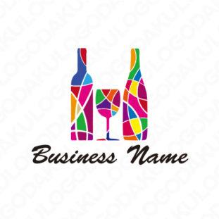 ステンドグラス・ワインのロゴ