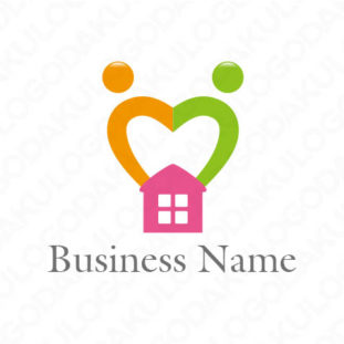 ハートフルな家のロゴ