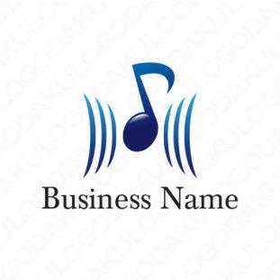 音楽で感動を音符のロゴ