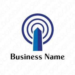 情報発信する塔のロゴ
