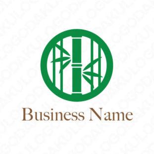 風情ある竹のロゴ