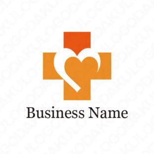 思いやりのある十字のロゴ