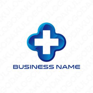 クールな十字のロゴ