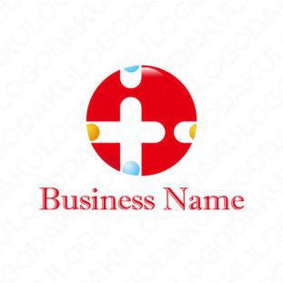 安全なカラフルな十字ロゴ
