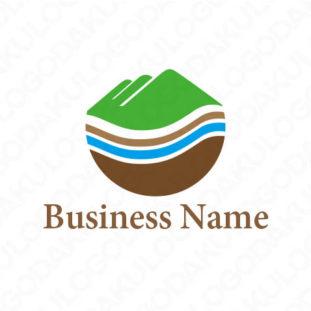 自然にろ過されるロゴ