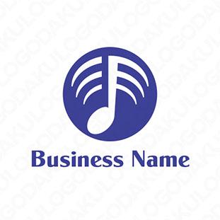 無線で音楽を伝えるロゴ