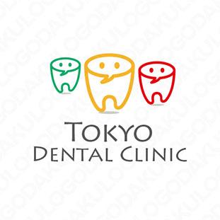 ユニークな歯科のロゴ