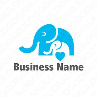 親子の象のロゴ