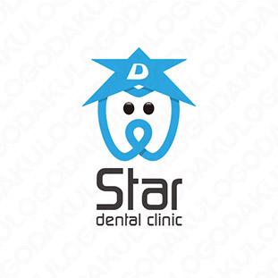 輝く歯科医院のユニークなロゴ