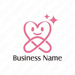 キラキラなハートのロゴ