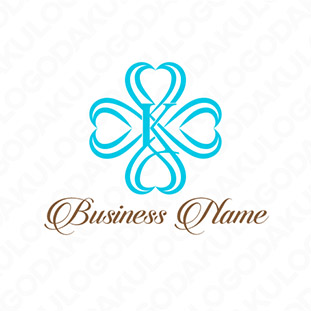 高級感のあるハート十字のロゴ