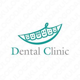 健康な歯で素敵な笑顔のロゴ