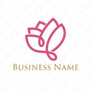 洗練された薔薇のロゴ