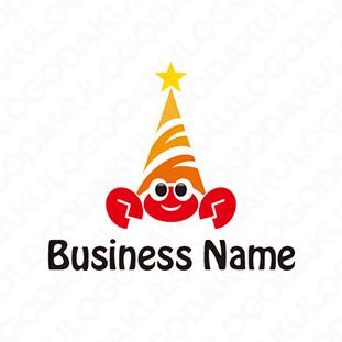 ユニークなヤドカリのロゴ