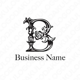薔薇とBのロゴ