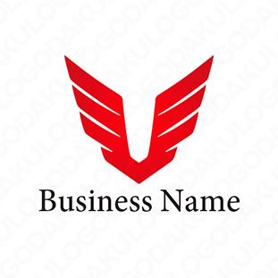 翼を広げるロゴ