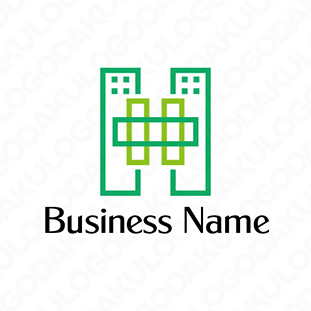 環境に優しい建物のロゴ