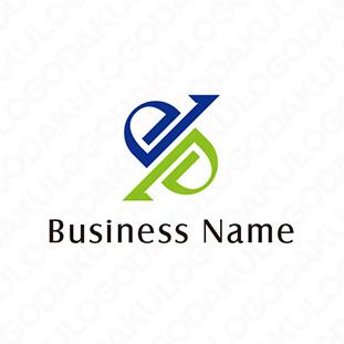 双方向のロゴ