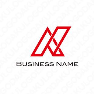 先進的な右上がりのロゴ