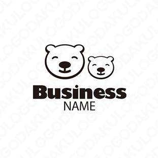 クマの親子のロゴ