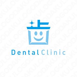 かわいい漢字の歯のロゴ