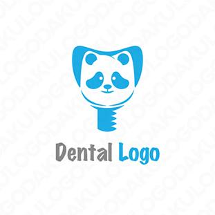 パンダの丈夫な歯のロゴ