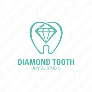 光り輝く歯のロゴ