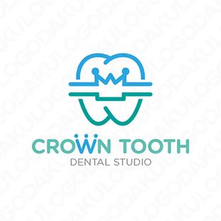 クラウン歯のユニークなロゴ