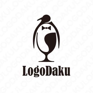ペンギンのワイングラス・ロゴ