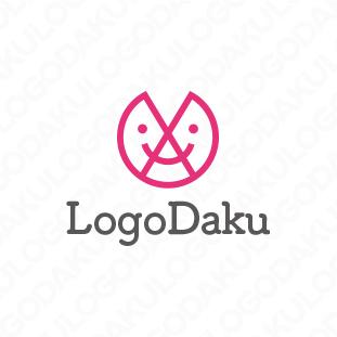 スマイルAで対話するロゴ