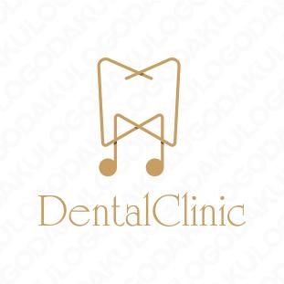メロディーを奏でる歯科のロゴ