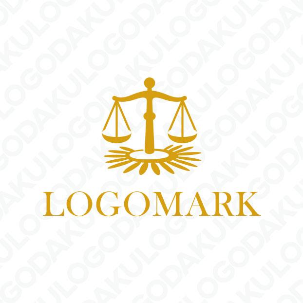弁護士の象徴・天秤とひまわりのロゴ