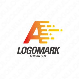 光の軌跡をのこし加速するAのロゴ