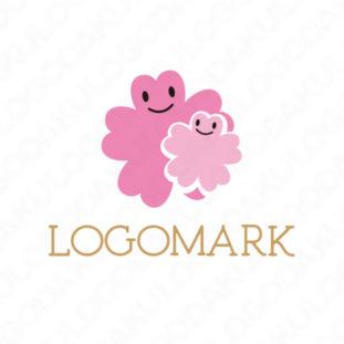桜の花びら・かわいいロゴ