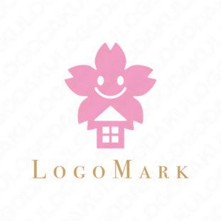 桜の家の優しいロゴ