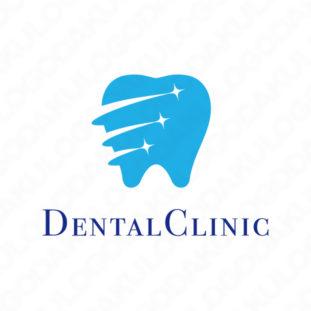 虫歯予防コーティングで輝く歯のロゴ