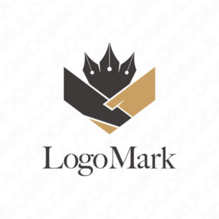 握手するペンのロゴ