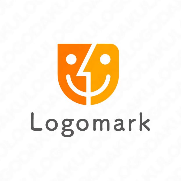 Webサービスで笑顔になるロゴ