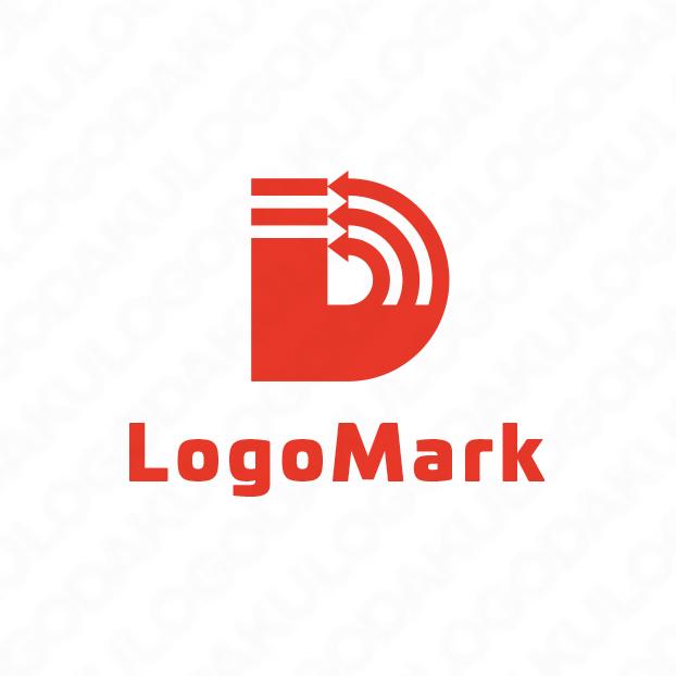双方向のDロゴ