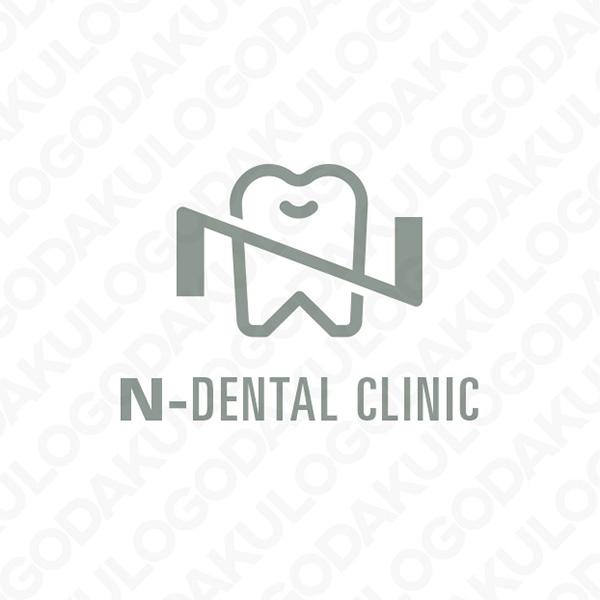 イニシャルN・歯のロゴ