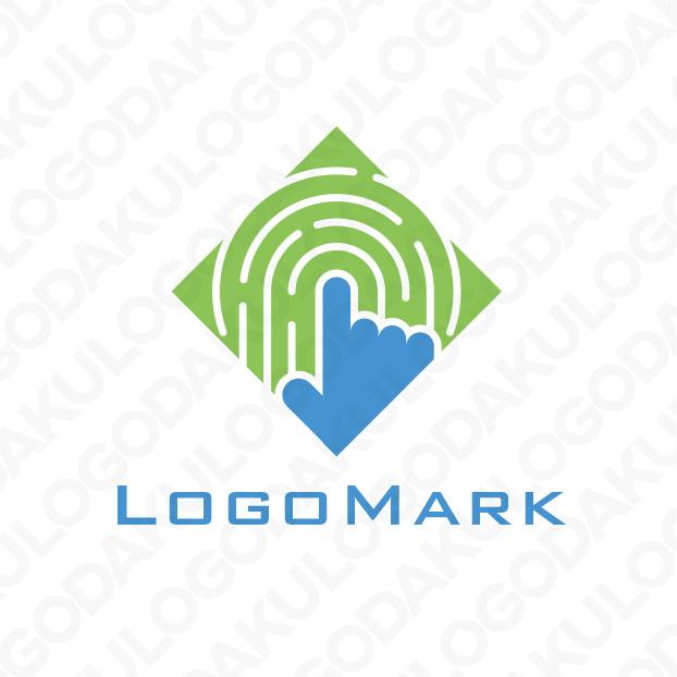 タッチ画面・指紋認証のロゴ
