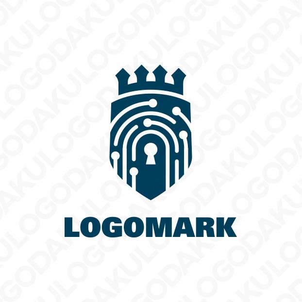 指紋認証セキュリティのロゴ