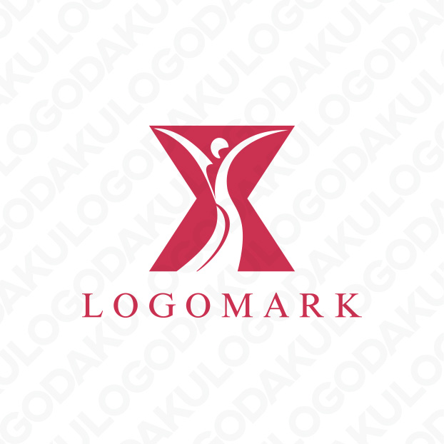 S字の女性的なラインのロゴ