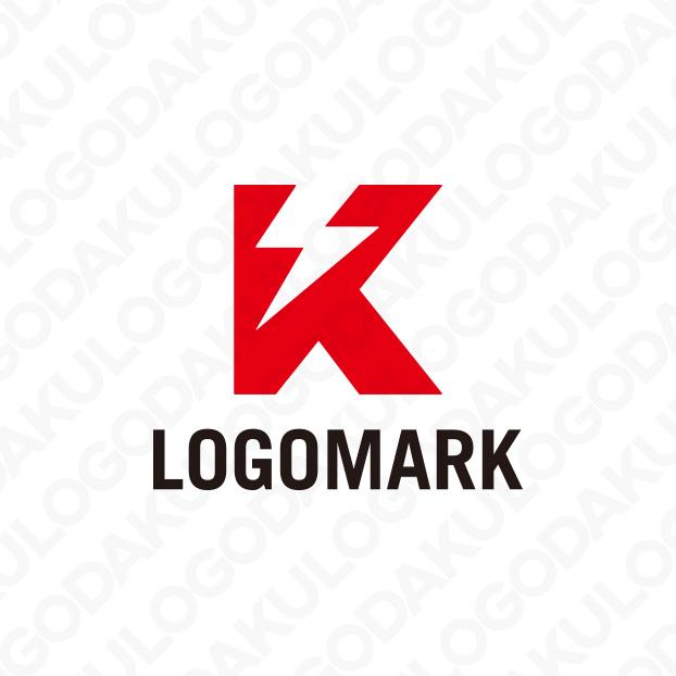電気が走るKのロゴ