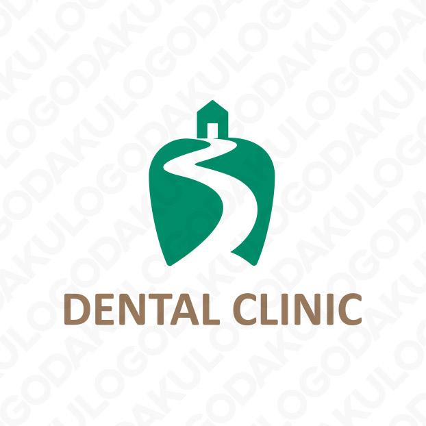 小高い丘の上にある歯科のロゴ
