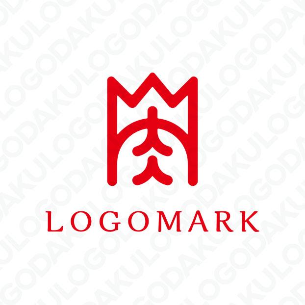 肉の王様の称号を与えられたロゴ