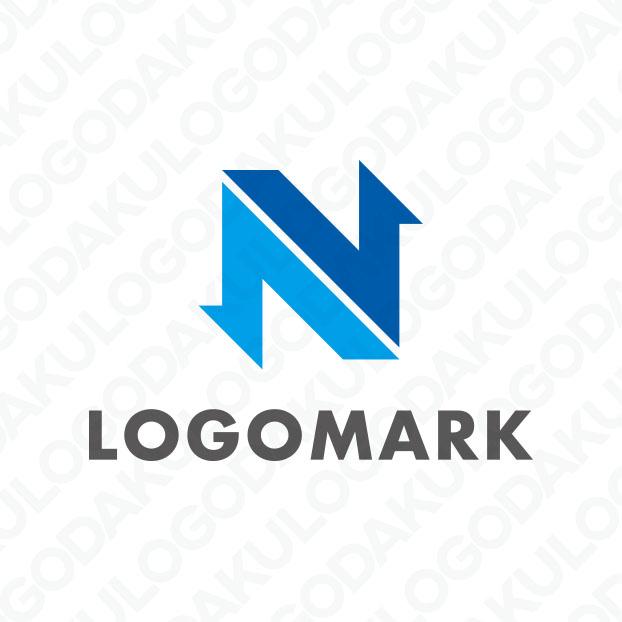 双方向をカバーするNのロゴ