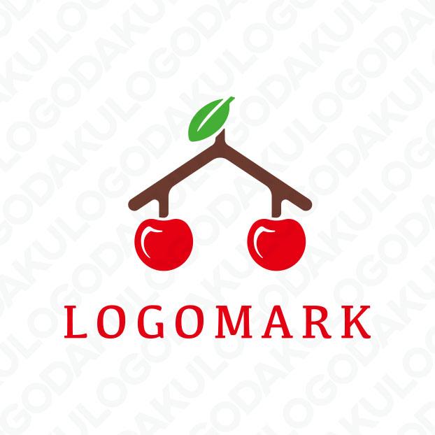 さくらんぼと家のロゴ
