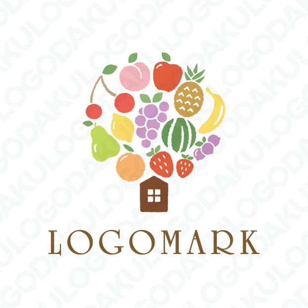 自然が作り出した美しい果物が主役のロゴ