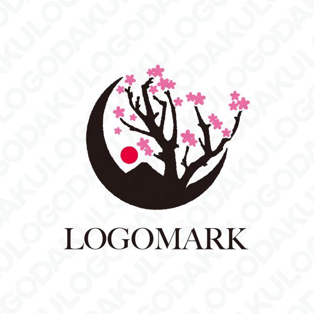 風情のある桜のロゴ
